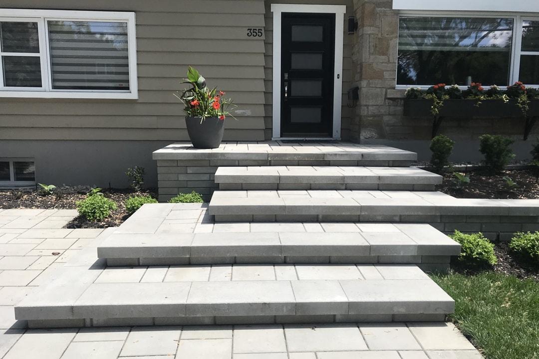 entree-pavage-escalier-maison